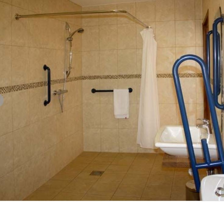 Accessible shower room at self catering Bromyard