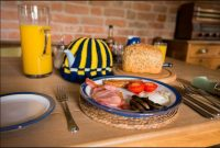 Breakfast is served at B&B near Bromyard