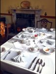 Breakfast table at B&B Bromyard