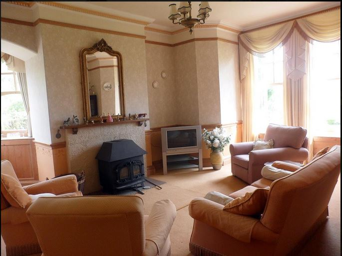 Guest lounge at B&B Bromyard
