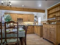 Kitchen dining area at holiday cottage near Bromyard
