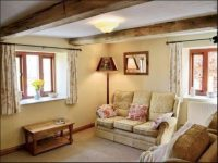Living room at holiday cottage Bromyard
