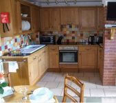 kitchen area at self catering near Bromyard