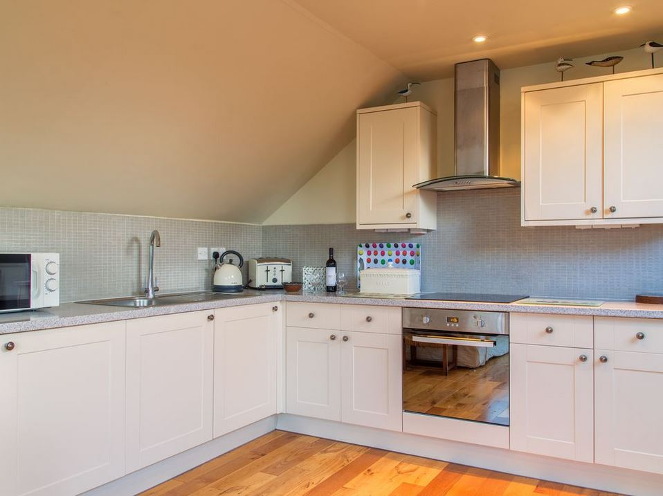 Kitchen area at romantic self catering near Bromyard