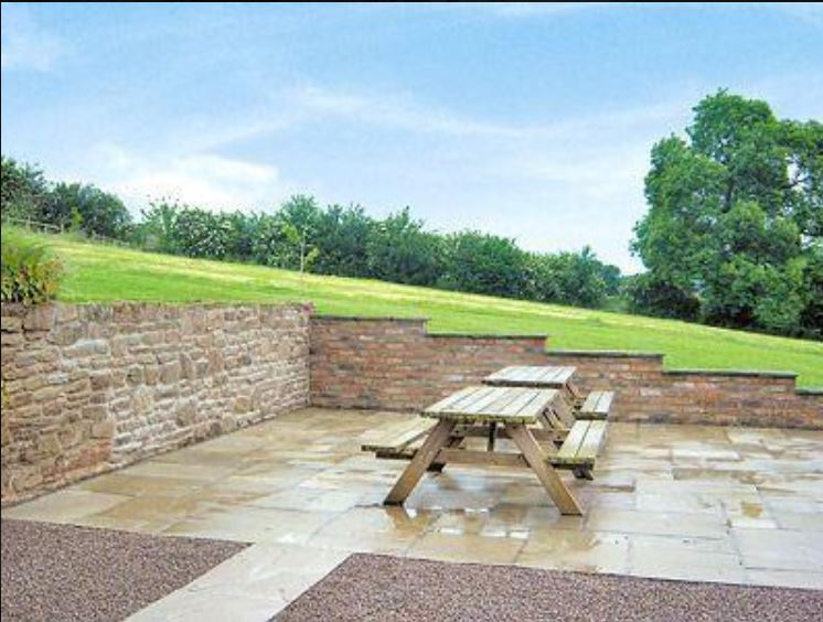 Courtyard at holiday accommodation Bromyard