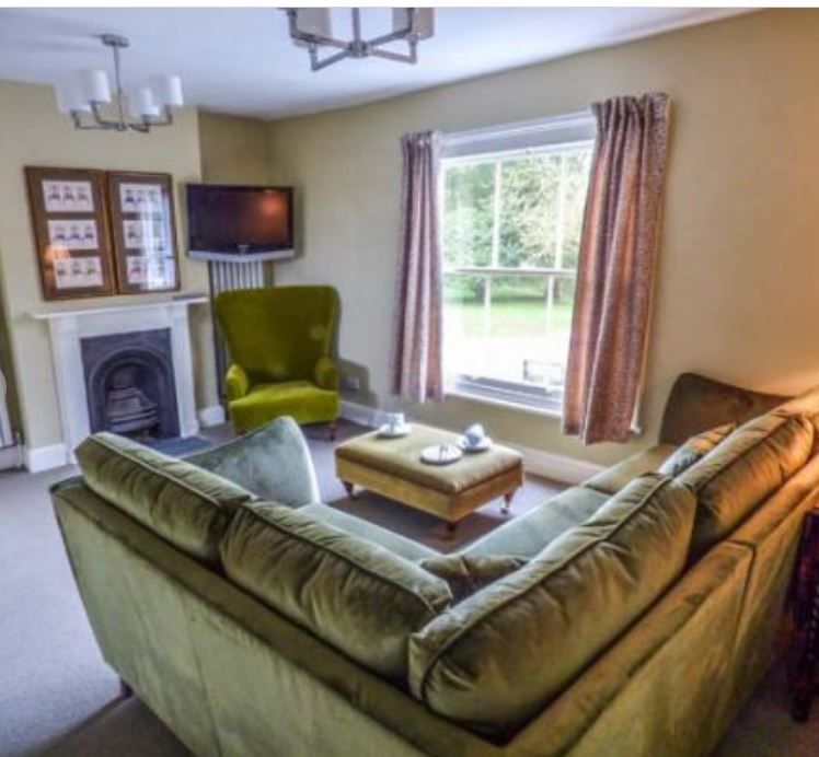 Living room at self catering Bromyard