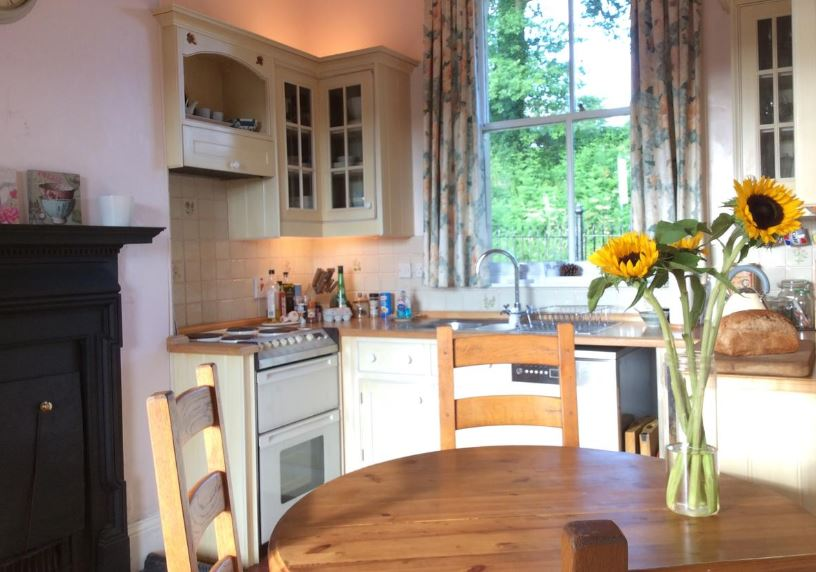 Kitchen at self catering near Bromyard