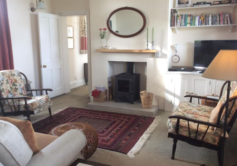 Living room at self catering near Bromyard