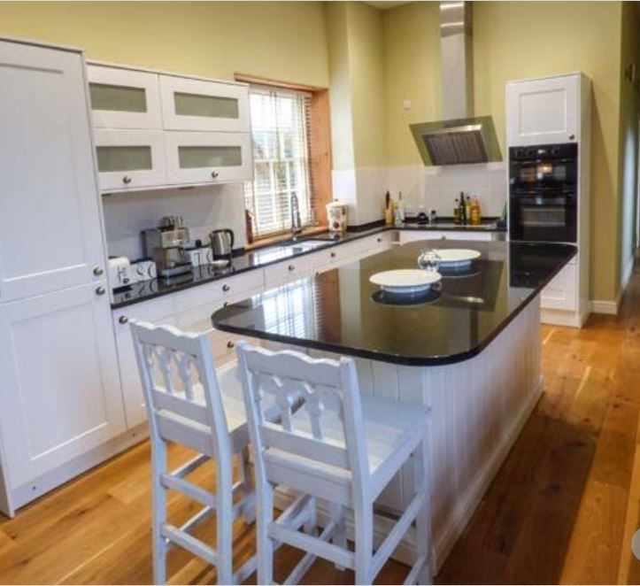 Kitchen area at large group self catering Bromyard