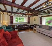 sitting room at large party self catering Herefordshire
