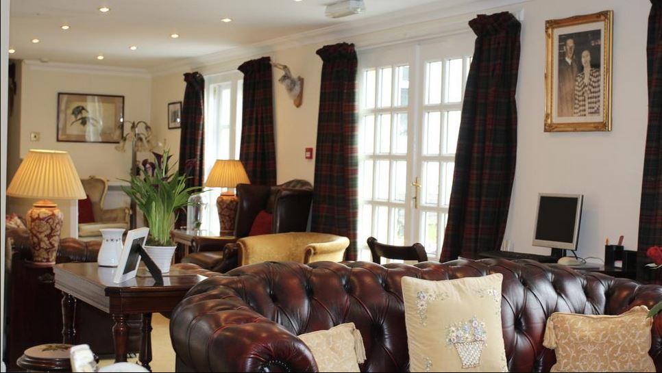 Guest lounge at luxury bed and breakfast Islay
