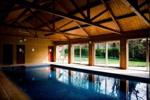 Swimming pool at luxury B&B Cromer