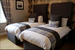 Twin room at luxury B&B Islay